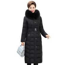 2019 X-Long Winter Jacket Women Hooded Plus Size 5XL Winter Coat Fur Collar Thicken Warm Down Jacket Female Outerwear Long Parka цены онлайн