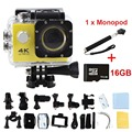 Action Camera 4K F02 wifi Sports extreme Mini Cam Recorder Marine Diving go pro sports camera gopro hero 4 style with Retail box