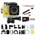 Câmera de ação 4 K F02 wi-fi extrema Cam Mini Gravador de Esportes Marinhos mergulho ir pro câmera de esportes gopro hero 4 estilo com retail caixa
