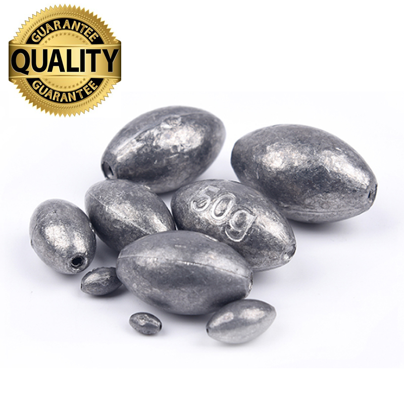 Free Shipping Lead Sinker/Weight Fishing Tackle Accessories olive in Line Fishing Sinkers 1g 1.5g 2g 3g 4g 5g 6g 10g