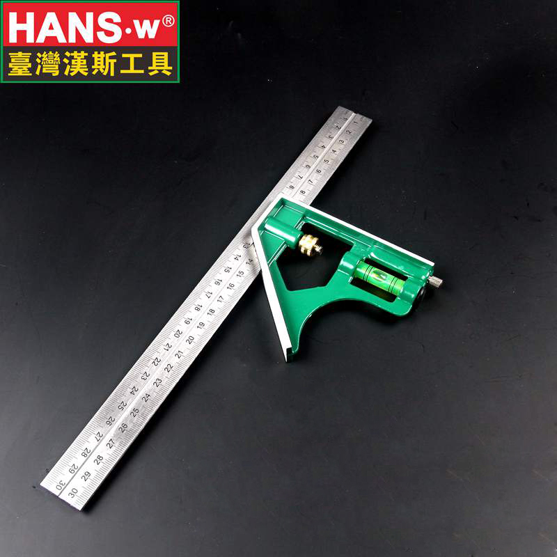 300mm Multifunctional Combination Square Ruler Stainless Steel Horizontal Removable Square Ruler Angle Square Tools metal ruler free shipping square rectangular inside and outside inspection feet angle of yin and yang angle ruler angle ruler zjc l