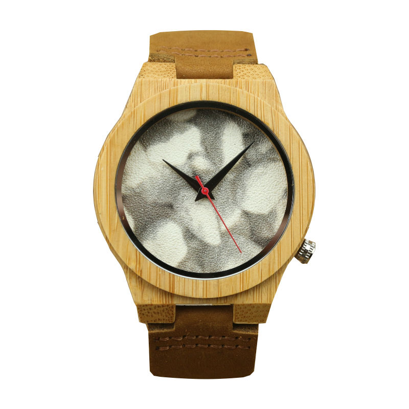 Top Selling Handmade Bamboo Watch Unisex Casual High Quality Quartz Leather Wristwatch Women And Men Natural Bamboo Dress Watch