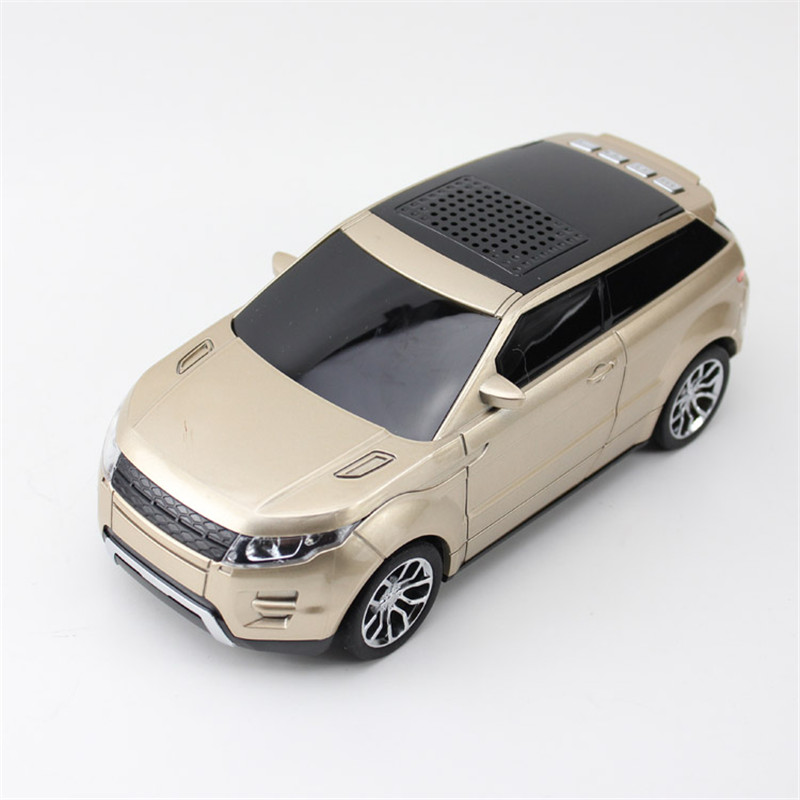 Fashion Mini Car Vehicle Shape Bluetooth Speaker FM Radio USB Micro SD TF Card MP3 Stereo