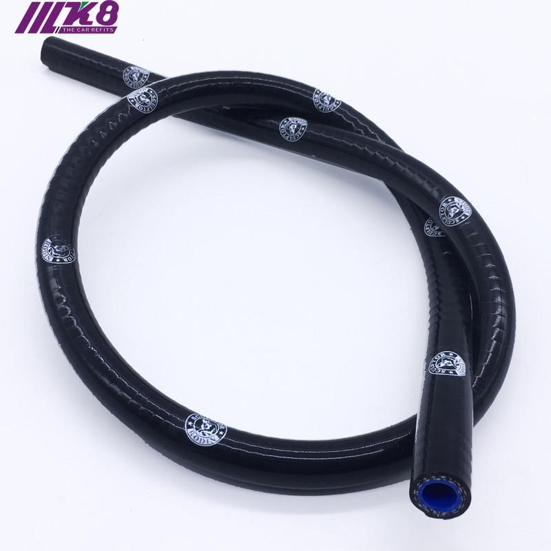 AutoSiliconeHoses 4mm ID Black 25 Metre Length Silicone Vacuum Hose
