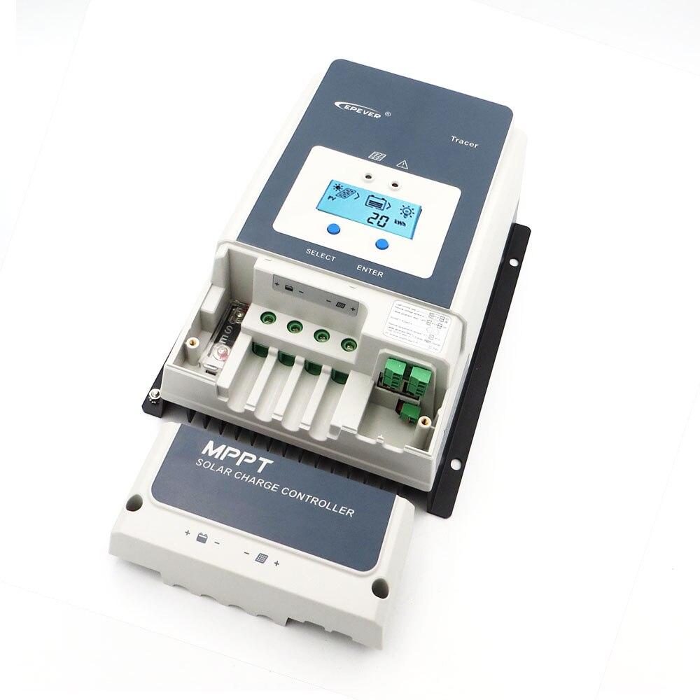 Traceur MPPT Batterie Solaire Contrôleur de Charge 10/20/30/40/50/60/80/ 100A LI-ION NI-MH LiFePO4 Chargeur Régulateur Solaire cellules Panneau
