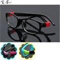 TR RTBOFY crianças armações de óculos de Criança Óculos de armação Flexível de borracha lente óptica Sem Parafuso segura Luz JR-8815