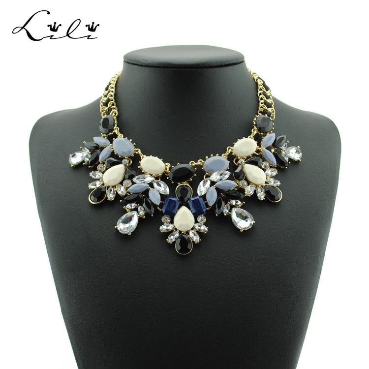 2015 New Fashion Summer Jewelry Chocker Maxi Colar Flower ...