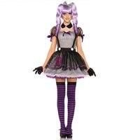 Halloween Costume Purple Adult Bar Bie Doll Dress Retro Ancient Masquerade Stage Costumes