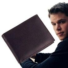 2016 Mode Herren Brieftaschen Rindleder-echtes Leder Kreuz Stil 3 Falten Kartenhalter Münzfach Geldbörse Brieftasche #04