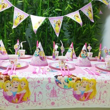 78pcs/set Princess Ariel Snow Queen Cartoon Baby Birthday Party Decorations Kids Girl Supplies Tableware Set
