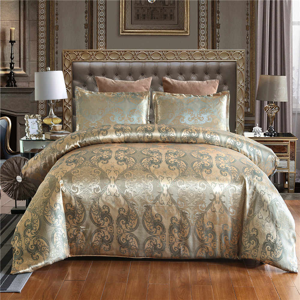 Luxury Jacquard Bedding set Single Queen King Size Duvet Cover Set Bed Linen Quilt Cover