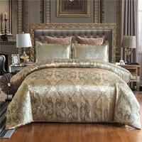 Роскошный жаккардовый односпальный Комплект постельного белья королевского размера пододеяльник набор стеганное постельное белье
