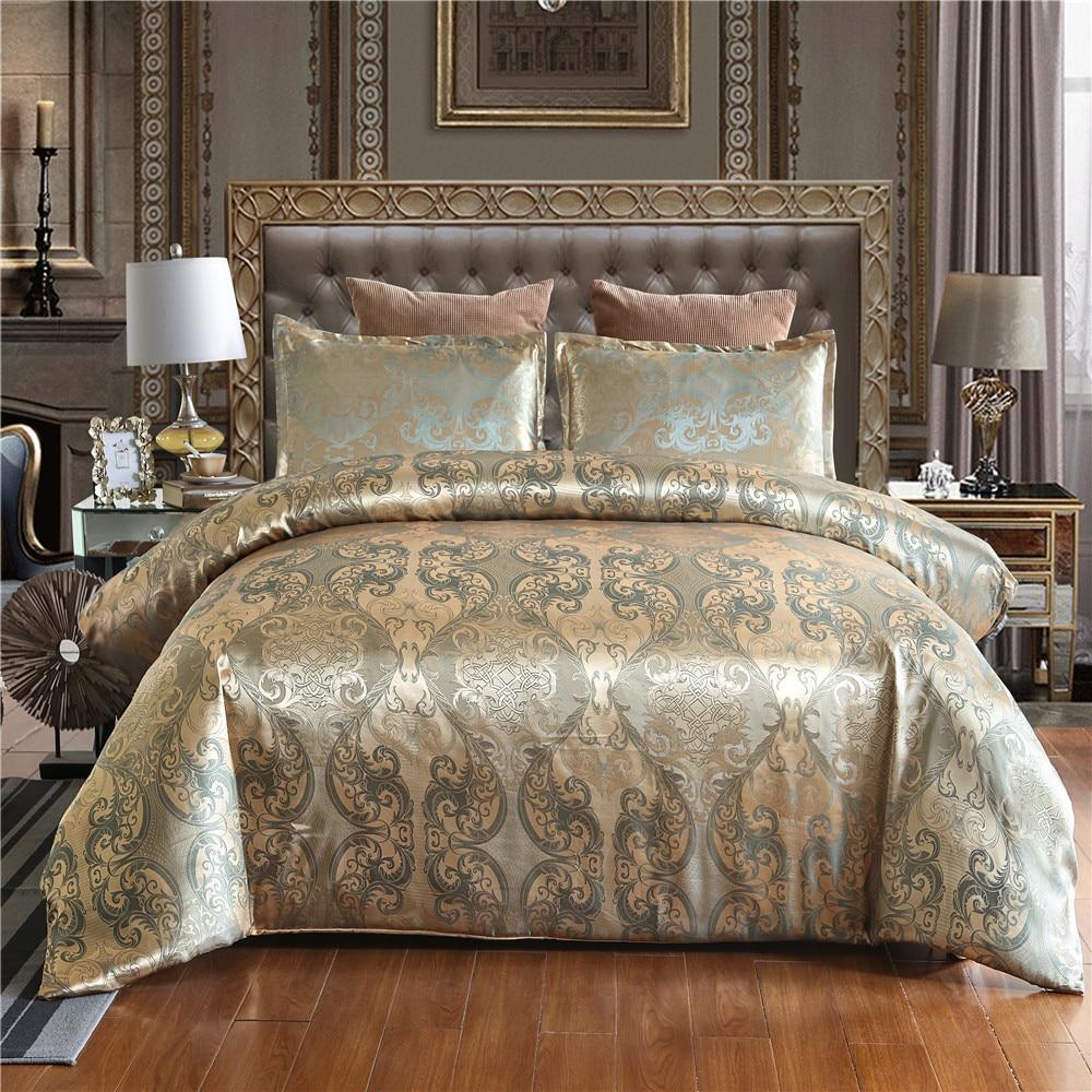 Luxus Jacquard Bettwäsche set Einzigen Königin König Größe Bettbezug-set Bettwäsche Quilt Abdeckung