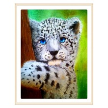 5D DIY diamond painting all-round / round leopard embroidery cross stitch gift home decoration