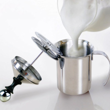 400ml/800ml Stainless Steel Double Mesh Milk Frother Milk Foamer Milk Creamer Egg Tools Kitchen Accessories