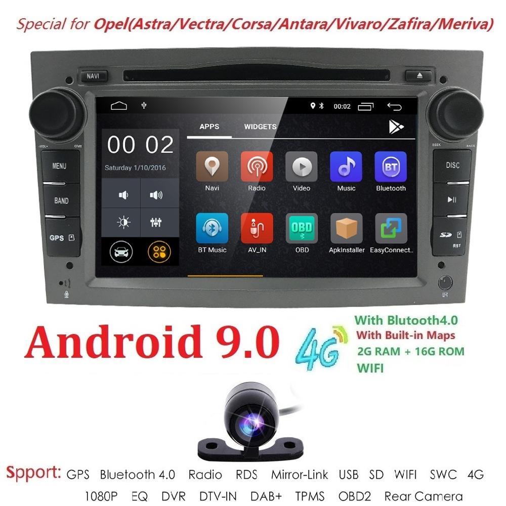 1024*600 QuadCore 2din Android 9 0 2G+16G PX5 Car DVD Player For Opel Corsa  Vectra C D Meriva Vivaro Tigra Signum Radio GPS Navi