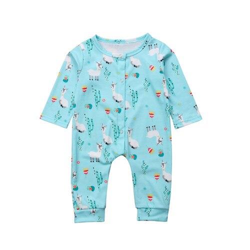 0-24 Mt Infant Newborn Kid Baby Junge Mädchen Baumwolle Alpaka Lange Hülse Einteiliges Overall Body Nachtwäsche Roben Baby Kleidung Outfits Phantasie Farben