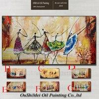 Handmade Nowoczesne Streszczenie Dancer Wall Decor Dzieł Sztuki Akrylowe Malarstwo Olejne Ręcznie malowane Balet Canvas Malarstwo dla Pokoju Gościnnego