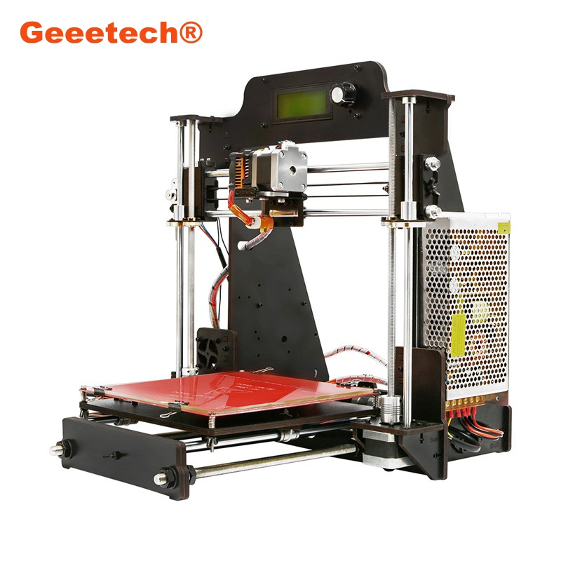 Newest For Geeetech Prusa I3 Pro W DIY 3D Printer 200x200x180mm Printing Size 1.75mm 0.3mm Nozzle Set Kit for DIYer Toys Tools 2017 newest tevo tarantula prusa i3 3d printer diy kit
