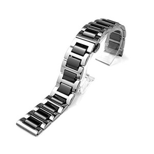 Image 2 - 22mm 20mm Stainless Steel with Ceramic Strap for Samsung Gear S3 Band for Galaxy Watch 3 Bracelet 41mm 45mm 46mm/42mm/Active 2