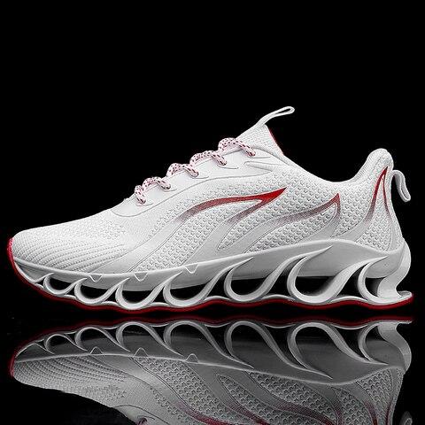 Esportivas ao ar Senta Novo Running Shoes For Men Respirável Zapatillas Hombre Tênis Livre Lightweigh 39 47 Sapatilhas Walking Shoes Tamanho