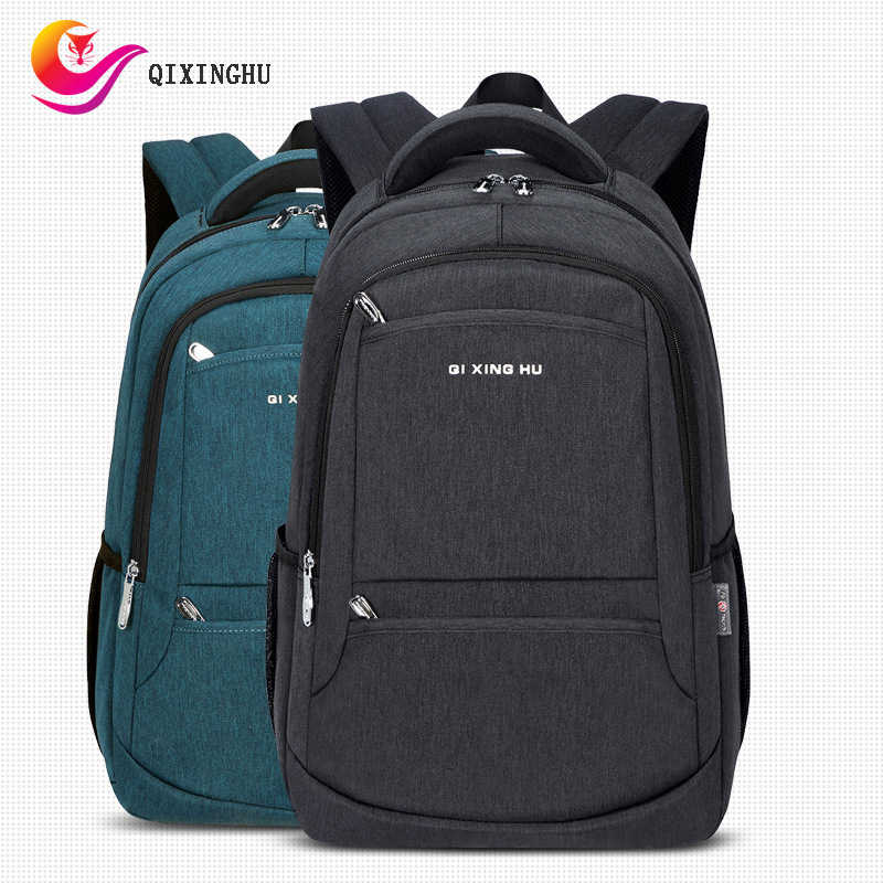 Men's Backpack Waterproof Oxford Middle Student School Bag Big Capacity Youth Travel Back Pack Notebook Computer Leisure Bookbag