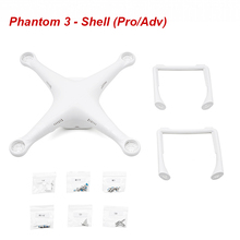 Original DJI Phantom 3 Professional Advance – Shell (Pro/Adv) with top and bottom covers, landing gear, and screws Free Shipping