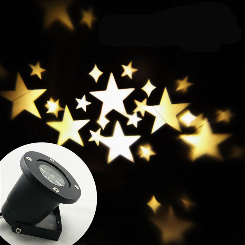 Moving Star Spotlight Soft White Waterproof Projector Light For Seasonal Decorative Valentine Wedding Party (Warm White)