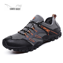 цена на Men Hiking Shoes Mountain Climbing Mesh Breathable Outdoor Athletic Breathable Men Tactical Trekking Shoes zapatillas hombre