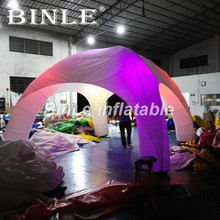 цена Cheap super quality 6x3m inflatable tent with led event party spider dome tent white air dome for sale в интернет-магазинах