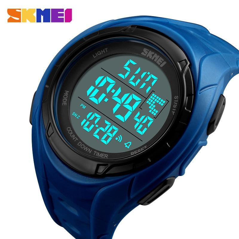 SKMEI 2019 Man Digital Watch Fashion Waterproof Men Countdown Chronograph Sport Watch electronic Male Watches reloj hombre