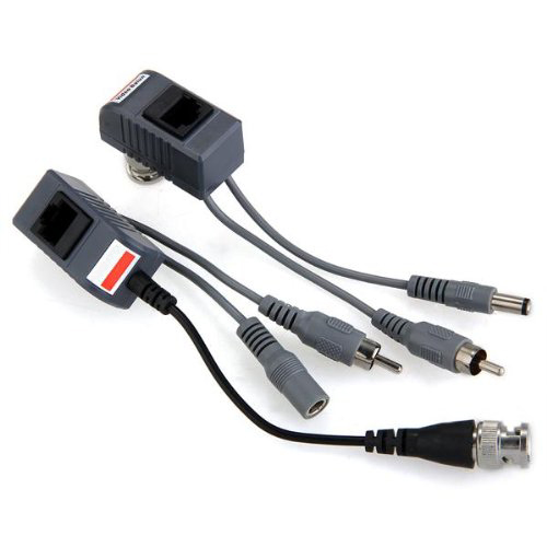 CCTV Camera Accessories Audio Video Balun Transceiver BNC UTP RJ45 Video Balun with Audio and Power over CAT5/5E/6 Cable