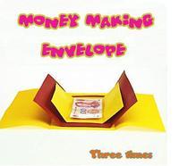 Free Shipping Money Making Envelope Three Times Magic Trick Stage Magic Mentalism Close Up Magic Props