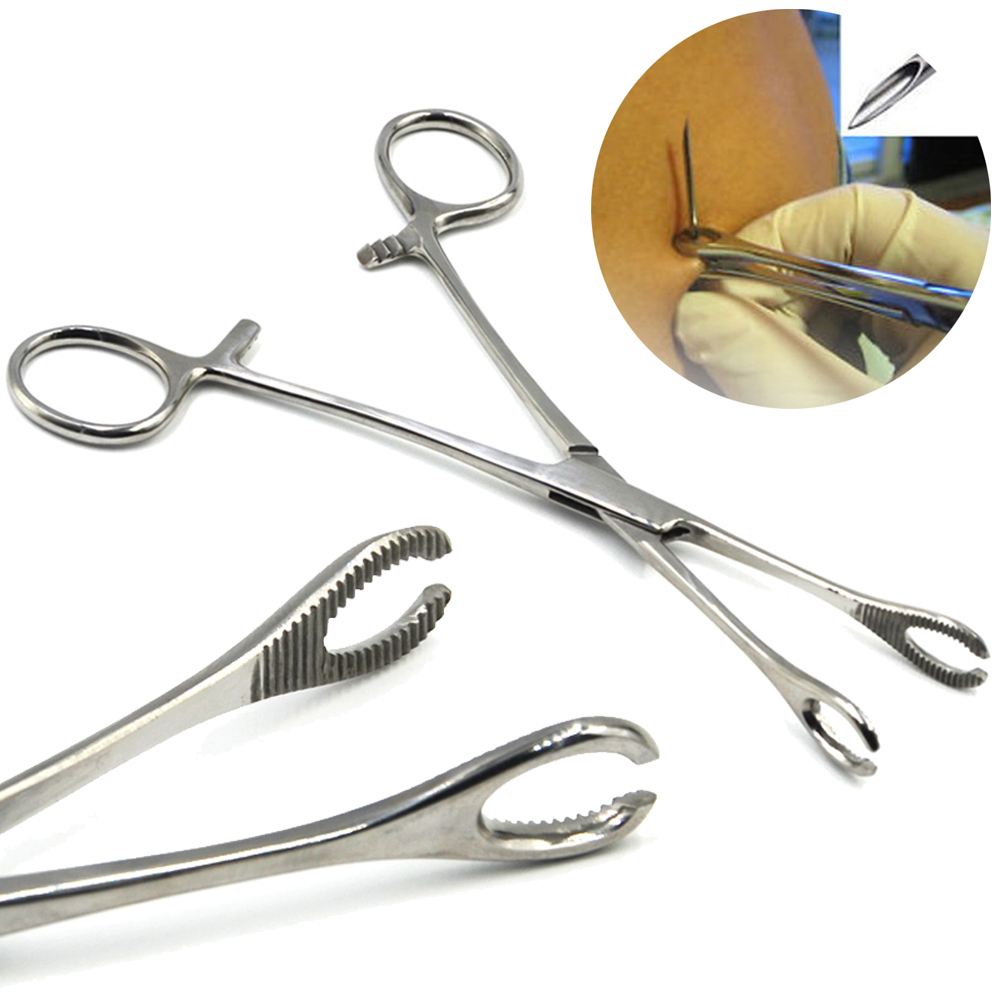 1Piece Premium Slotted Sponge Forceps Closing Ring Clamp Plier Body Piercing Jewelry Tool Ear Tongue Septum Lip Piercing Tool