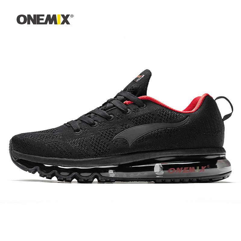 ONEMIX 2020 erkekler koşu ayakkabıları kadınlar için örgü örgü eğitmenler tasarımcı trendleri tenis spor açık seyahat Trail yürüyüş Sneakers