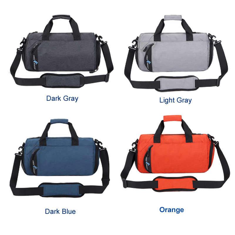 Ücretsiz şövalye spor çantası ayakkabı için kadın erkek spor spor çanta su geçirmez açık çok fonksiyonlu çanta eğitim silindir çanta 4 renkler