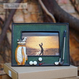 Image 3 - גולף כדור תיק מוט 3D שרף זיכרון מלאכות אישית רך נדנדות מסגרת תמונה מתנת יום הולדת הפרס עבור משחק מועדון מתנה