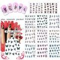 2015 BeautyNailArt 90 Hoja/lot AGUA DECAL NAIL Historieta de La Mariposa Del Clavo Del Tatuaje para nail art calcomanías de agua sistema de desarrollo de CONOCIMIENTOS NAILART