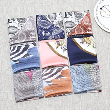 wind broken beautiful small  short square scarves decorated  Korean Fashion lady scarf encryption kao chiffon scarf kao