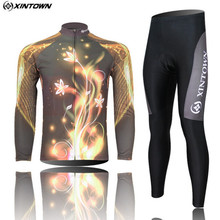 XINTOWN Men Long Sleeve Cycling Jersey Set Bike Team Sportswear Roupa Ciclismo Autumn/Spring Cycling Clothing CC0129