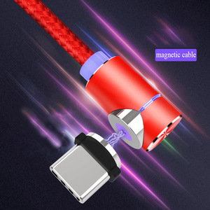 Image 1 - Acgicea 90 תואר מגנטי כבל USB סוג C טעינה עבור סמסונג S8 S9 בתוספת מגנט תשלום מהיר לxiaomi Huawei מטען כבלים