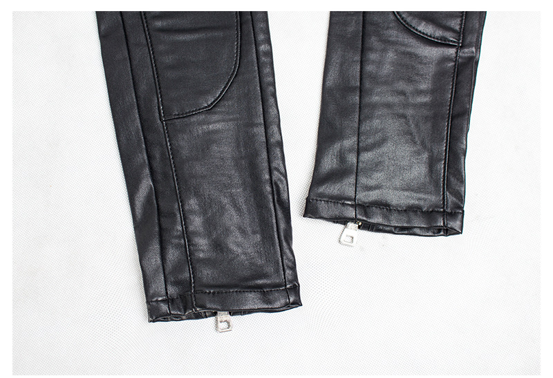 19 Winter Plus Size Stretch PU Leather Pants For Women High Waist Joggers Womens Trousers Pencil Skinny Waisted Female Pants 30