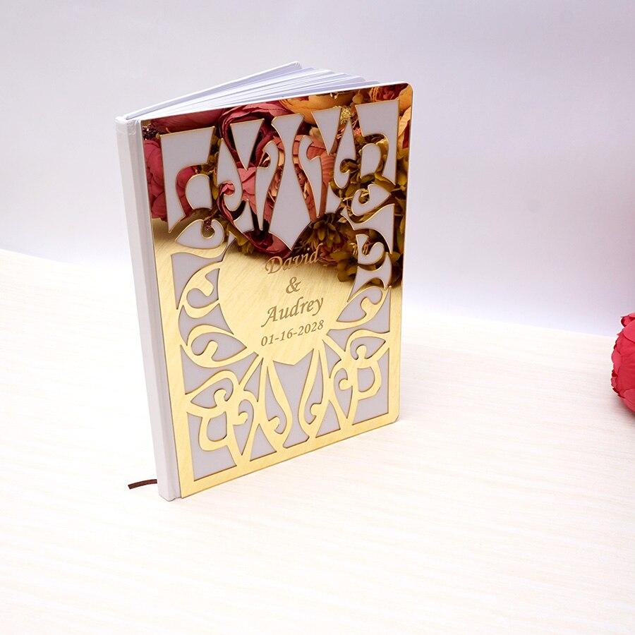 26,5x19 см Свадебная Подпись Гостевая книга индивидуальный альбом белые пустые страницы на заказ регистрация завечерние езда книга Декор суве...