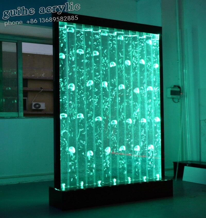Largura 100 * Altura 180 CENTÍMETROS de Água de fábrica LED de Parede com Várias Opções de Bolha Decorado, Sala de Hotel, café, restaurante, Escritório, Loja