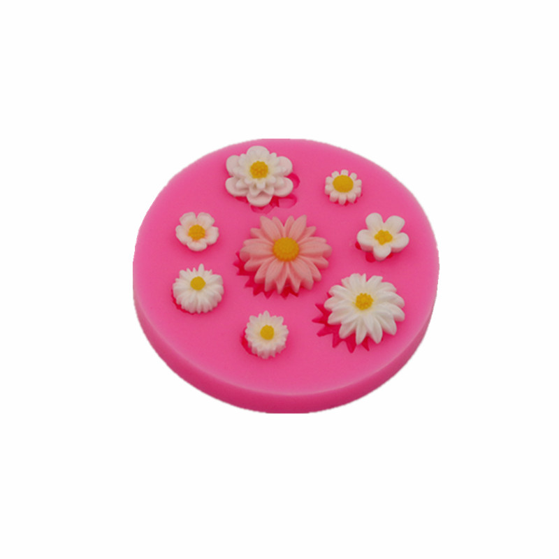 Small flower cake silicone mold handmade chocolate mold cakes dessert decoration gadget DIY kitchen baking mold biscuit mold gadget