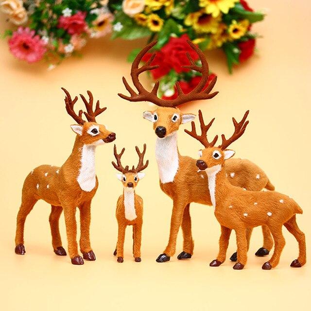 1 pc 2017 cute dolls deerelk christmas tree decorations hanging ornament santa claus reindeer - Reindeer And Santa