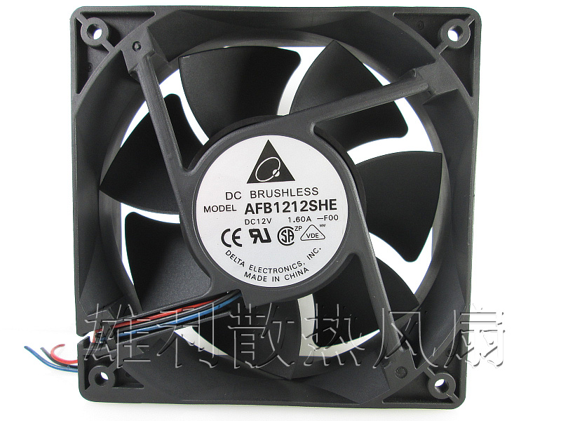 Free delivery.12038 12V 1.6A AFB1212SHE 12CM machine fan box cooling equipment fan free delivery 9025 9 cm 12 v 0 7 a computer cpu fan da09025t12u chassis big wind pwm four needle