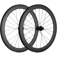 700C Cyclocross Road Disc Brake Bike Carbon Wheelset 55mm Center Lock QR Type Chinese Carbon Bicycle Wheel
