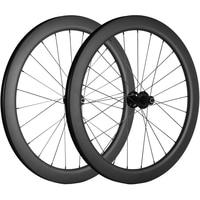 700C Cyclocross Road Disc Brake Bike Carbon Wheelset 55mm Center Lock QR Type Chinese Carbon Bicycle Wheel