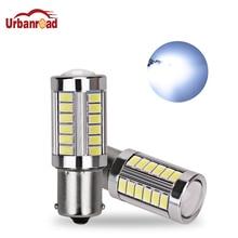 2 قطعة 1156 P21W BA15S 5630 5730 LED أضواء الفرامل 12V السيارات عكس مصباح بدوره إشارة النهار تشغيل ضوء الأحمر الأبيض الأصفر